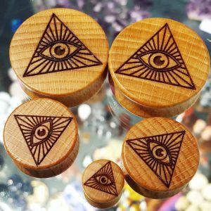 All Seeing Eye Holzplug aus eigener Herstellung