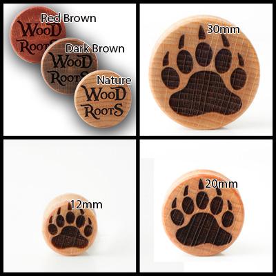 Bear Footprint Holzplug aus eigener Herstellung