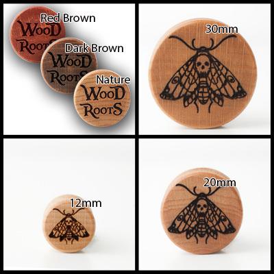 Death Moth Holzplug aus eigener Herstellung