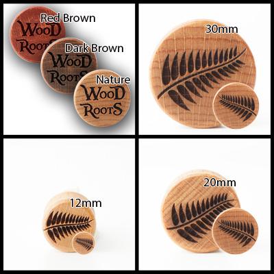 Farn-Fern Holzplug aus eigener Herstellung
