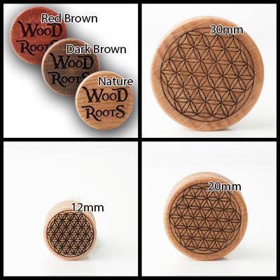 Flower of Life Holzplug aus eigener Herstellung