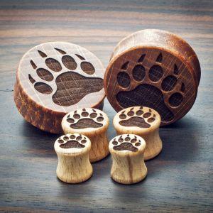 Bear Footprint Plugs aus eigener Herstellung