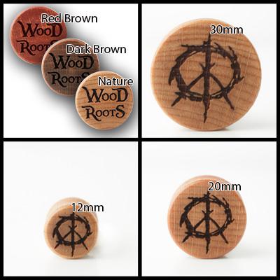 Peace Holzplug aus eigener Herstellung