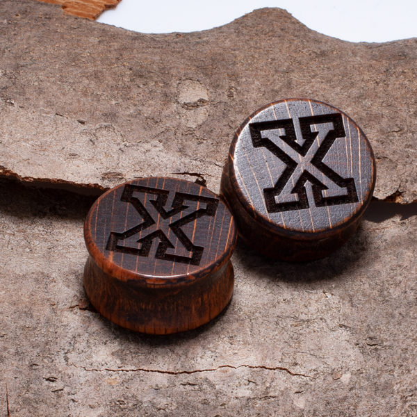 Straight Edge Plugs Dark Brown