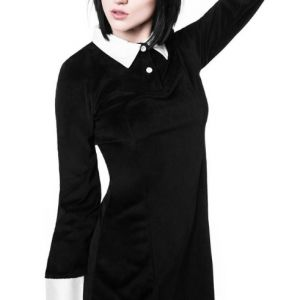 Killstar Addams Dress Velvet