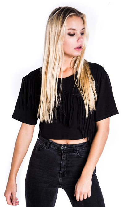 Killstar Mona Fringe Crop Top