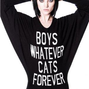 Killstar Boys Whatever Cats Forever Knit Dress