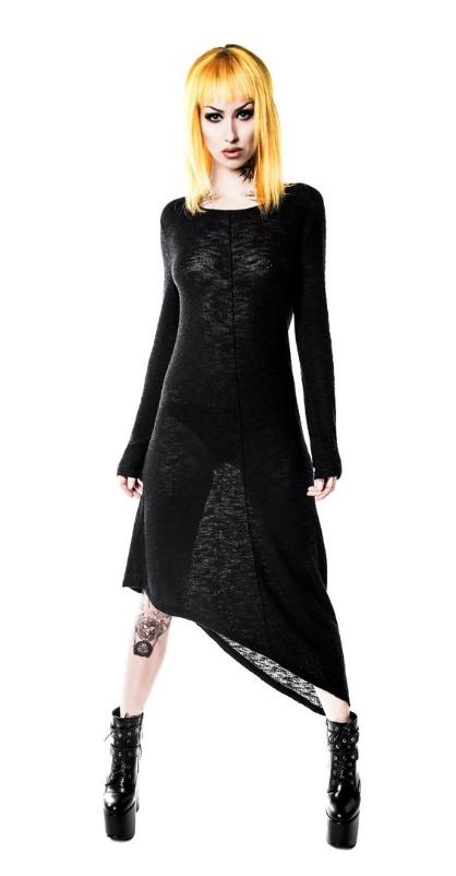 Killstar Merciless Asymmetrical Knit Dress