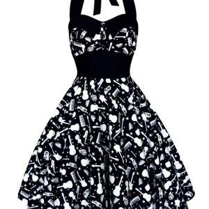 Lady Mayra Rockabilly Music Dress