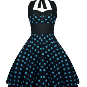 Lady Mayra Dress Black Blue
