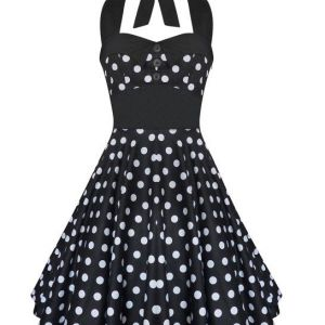 Lady Mayra Rockabilly Dress Black and White