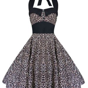 Lady Mayra Rockabilly Leopard Dress