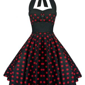 Lady Mayra Rockabilly DressBlack and Red