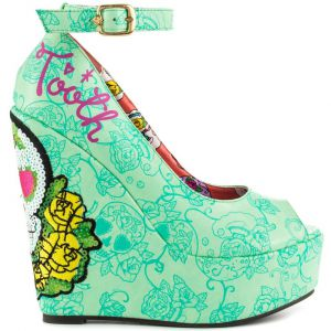 Iron Fist Sweet Tooth Peep Toe Wedge Plateau Shoes