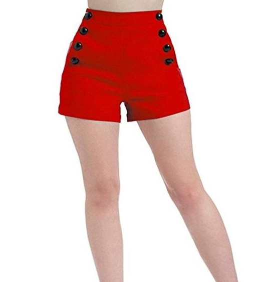 Voodoo Vixen Matrosen Shorts