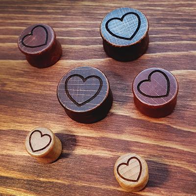 Herz Holzplug aus eigener Herstellung