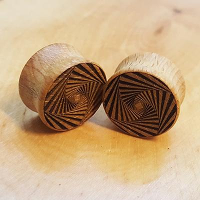 Psychodelic Spiral Holzplug aus eigener Herstellung