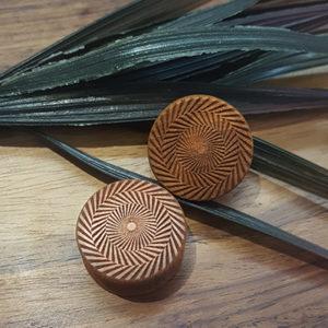 Zik-Zak Spiral Holzplug aus eigener Herstellung