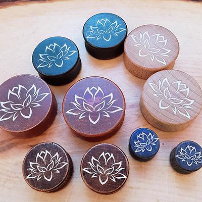Holzplugs Lotus