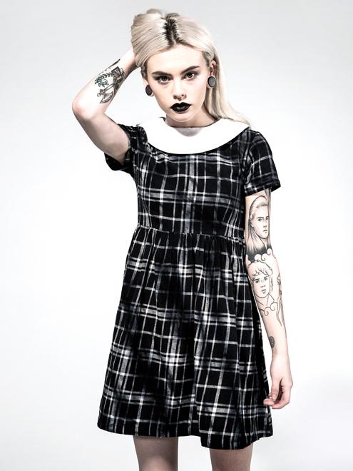 Disturbia Bad Habits Dress- Schwarz