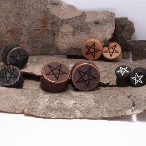 Pentagramm Holzplug aus eigener Herstellung