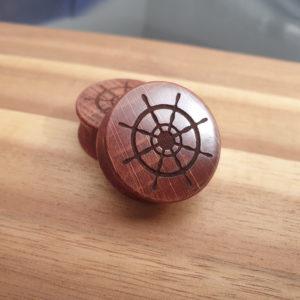 Schiffsrad-Steuerrad Holzplug aus eigener Herstellung