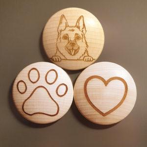 Dein Schäferhund Magnetset mit Gravur!