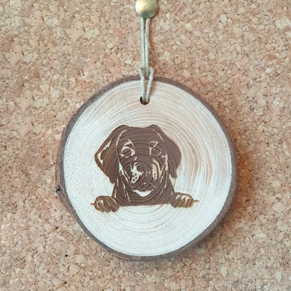 Dein Labrador Holzanhänger/ Glücksbringer mit Gravur!