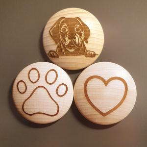 Dein Labrador Magnetset mit Gravur!