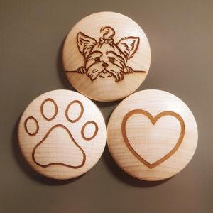 Dein Yorkshire Terrier Magnetset mit Gravur!